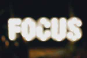 oprydning kræver fokus